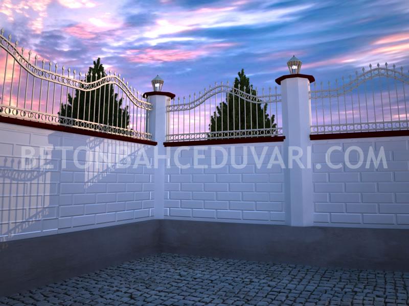 Modern bahçe duvarları yapımı beton bahçe duvarı istanbul